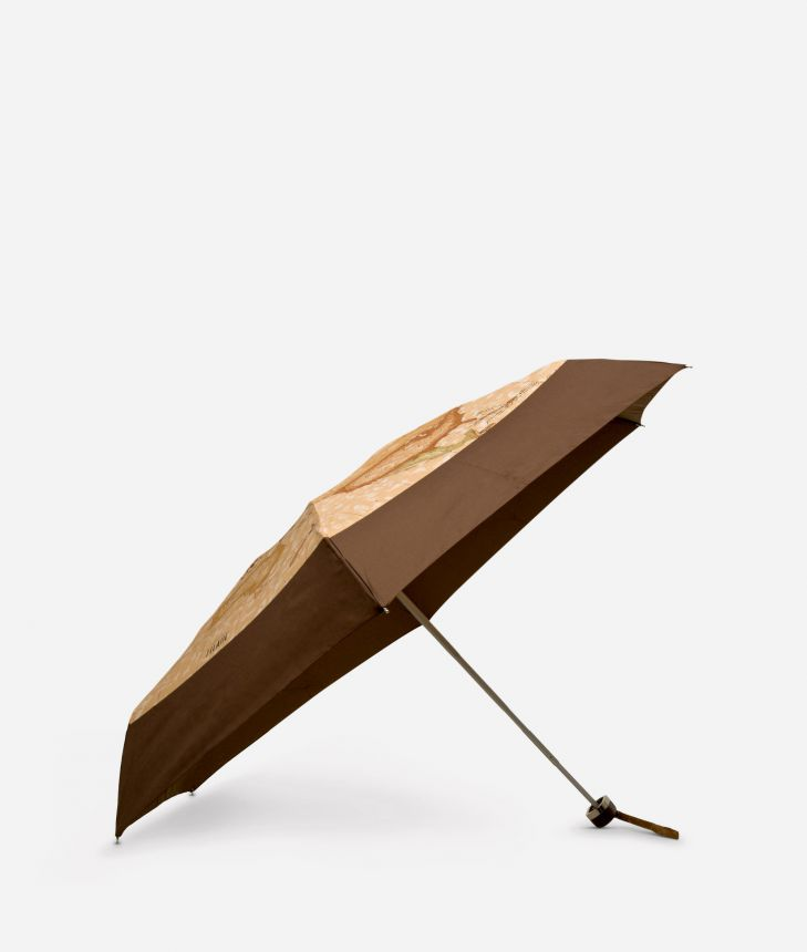 Mini umbrella in bicolour Geo Classic fabric,front