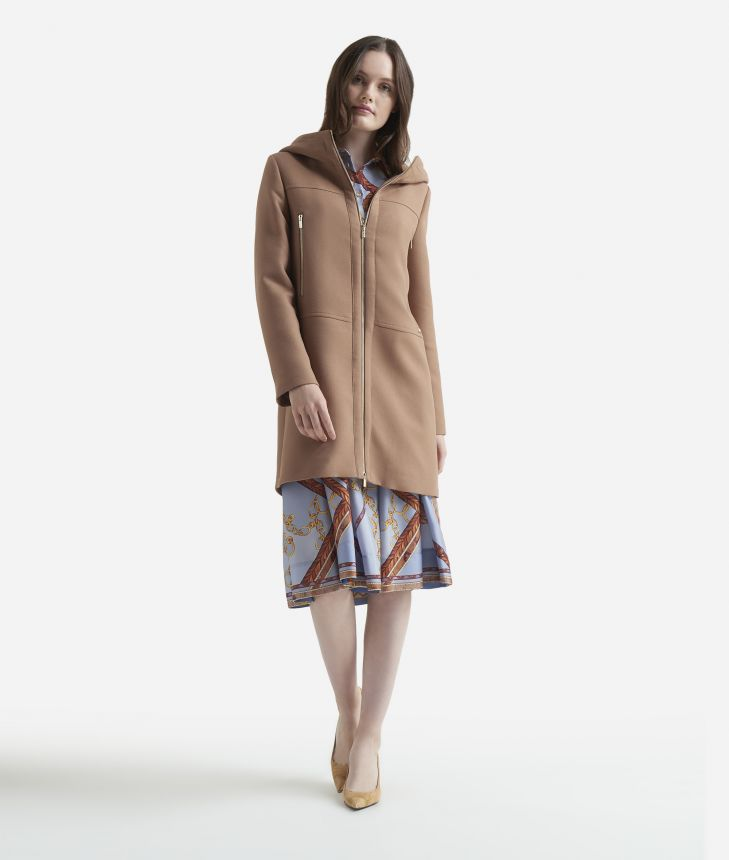 Crepe Montgomery Camel,front