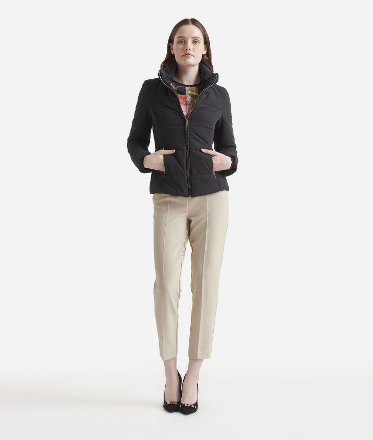 Basic padded jacket Black,front