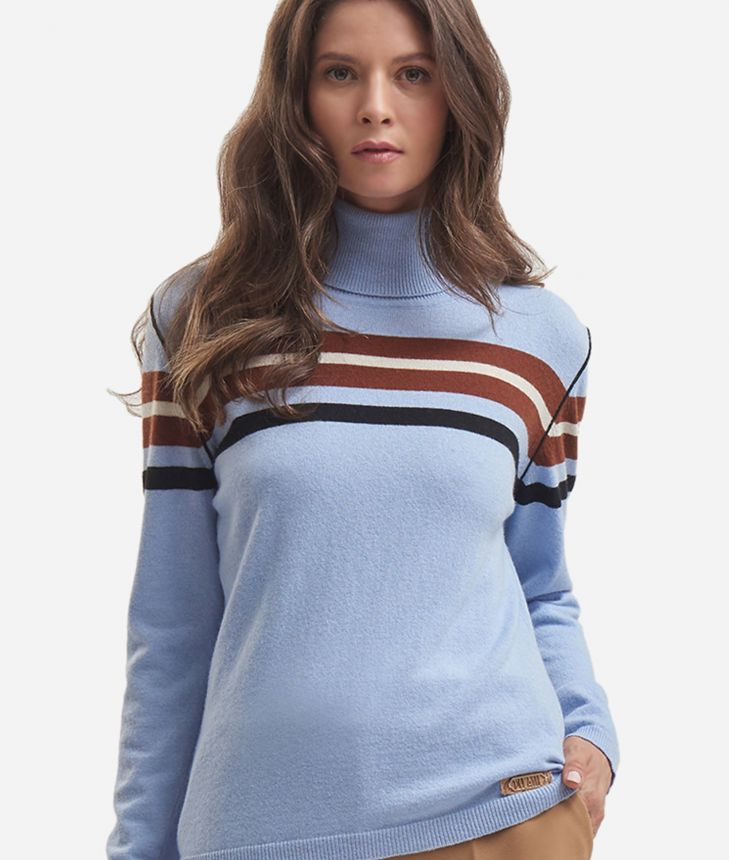Cachemire blend turtleneck Light Blue,front