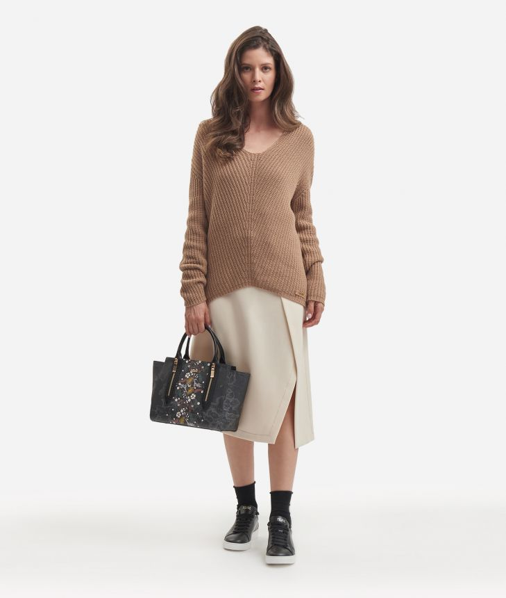 Cachemire blend sweater Beige,front