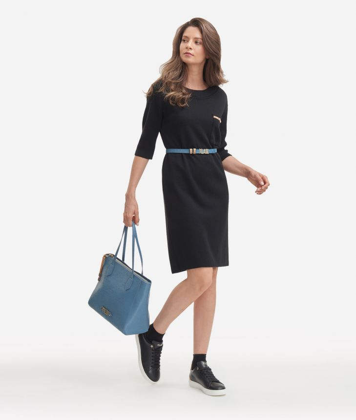 Wool blend dress Black,front