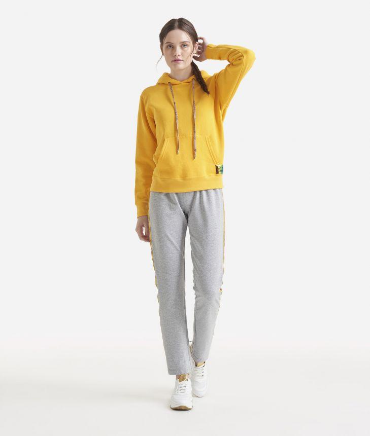 Basic fleece sweatshirt Yellow,front