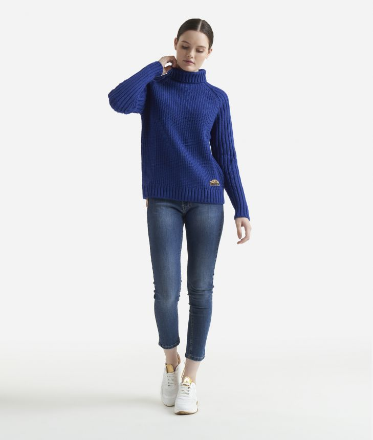 Crewneck sweater Blue,front