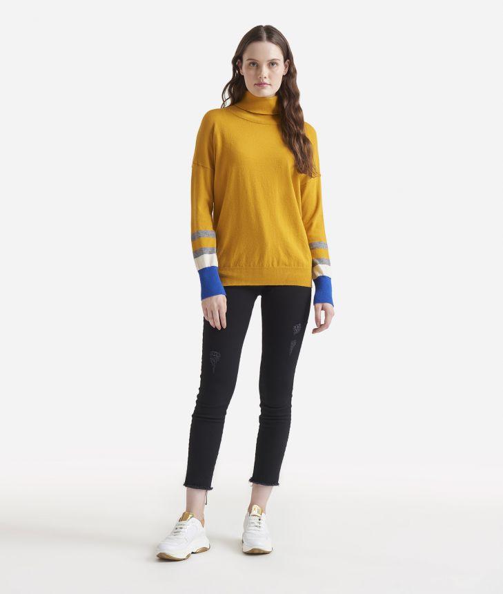 Turtleneck sweater Black,front