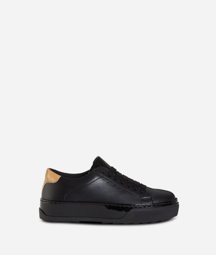 Donnavventura leather sneakers Black,front