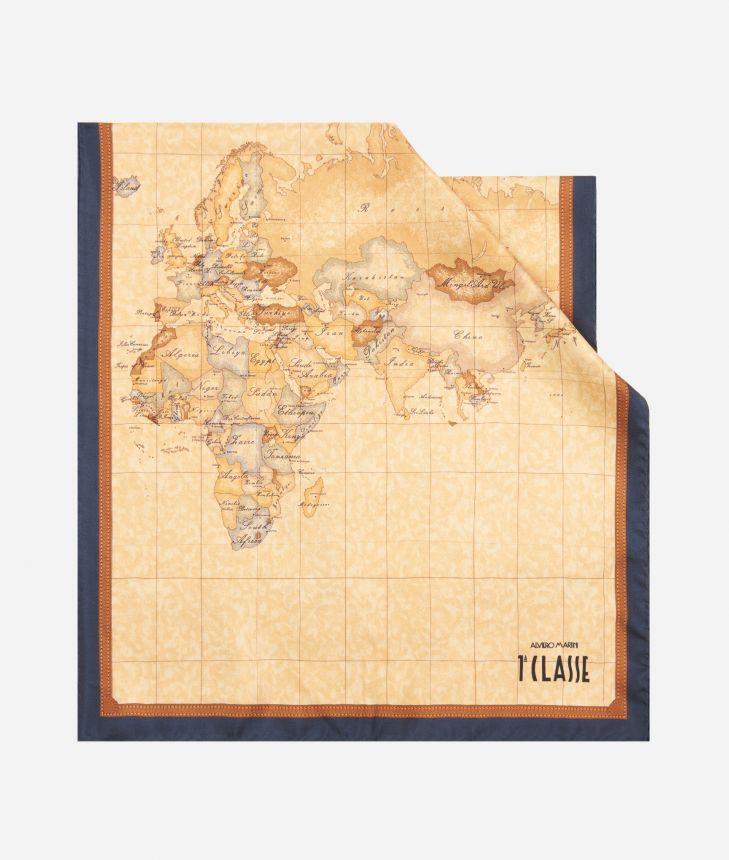 Geo Classic print foulard 45 x 180 Blue,front