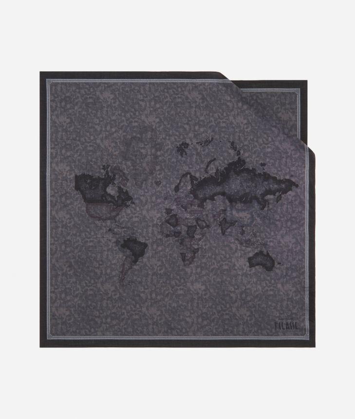 Geo Color print foulard 70 x 70 Grey,front