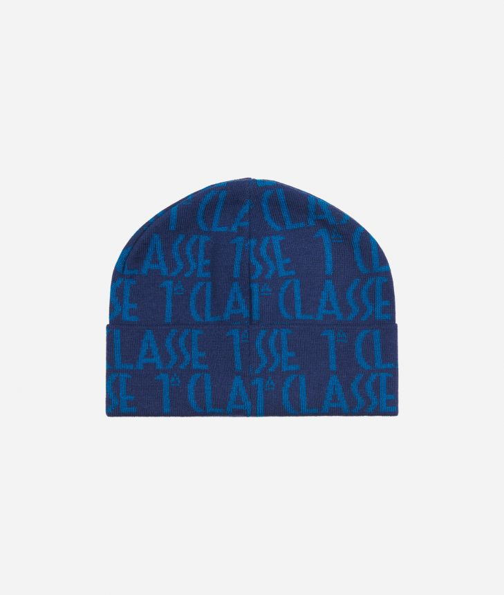 All-over Logo BeanieBlue,front