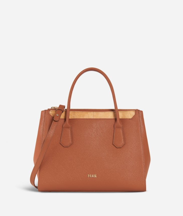 Sky City Medium Handbag  Walnut,front