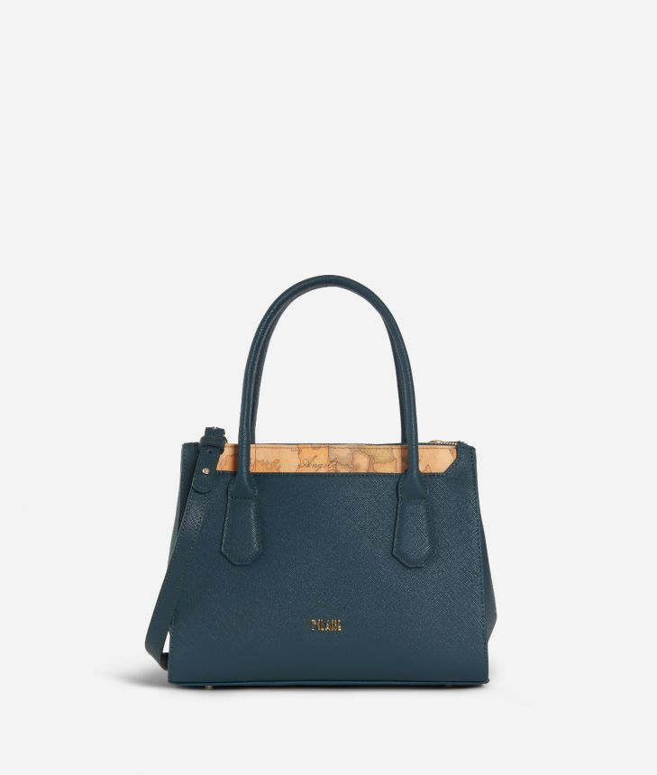 Sky City Small Handbag Teal,front