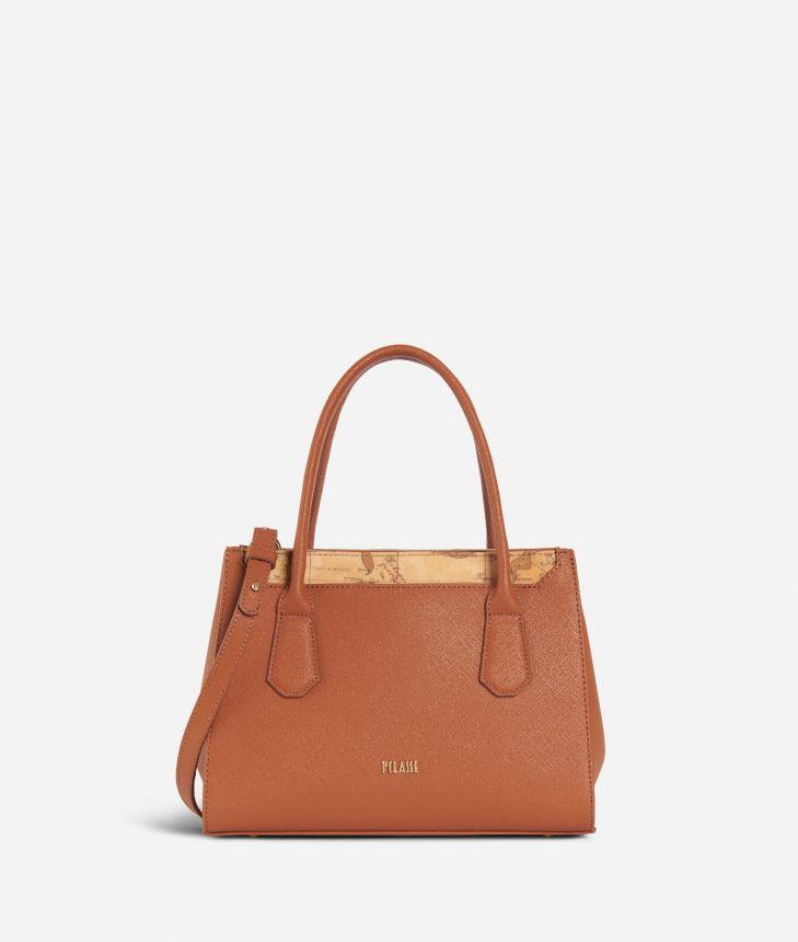 Sky City Small Handbag Walnut,front