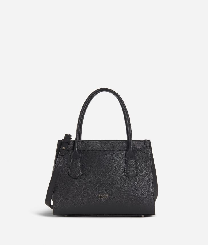 Sky City Small handbag Black and Geo Night Black,front