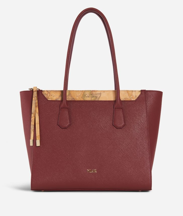 Sky City Shopping Bag Geo Classic Cabernet,front