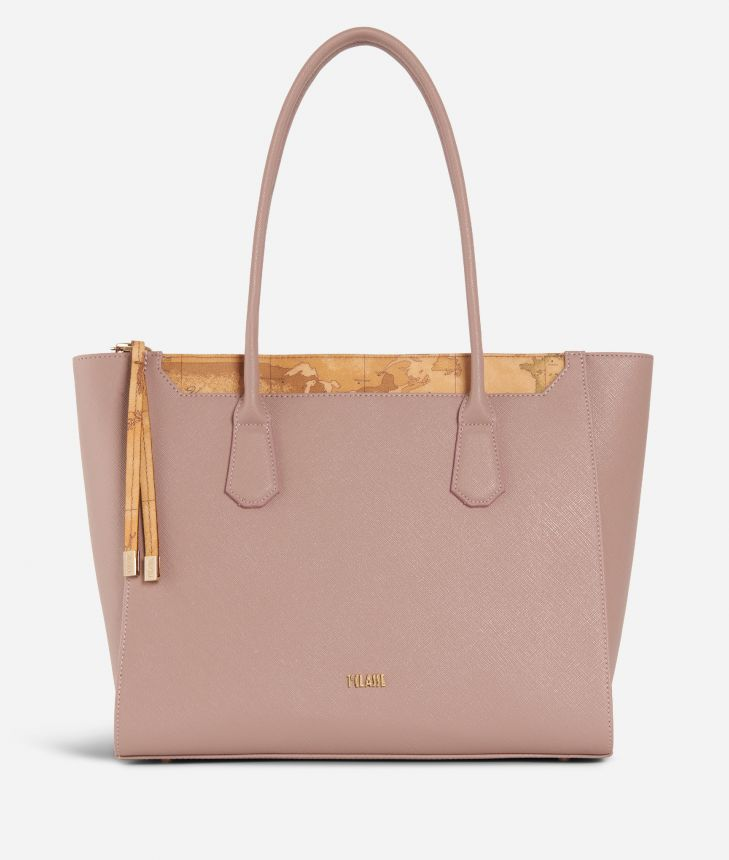 Sky City Shopping Bag Boreal Pink,front