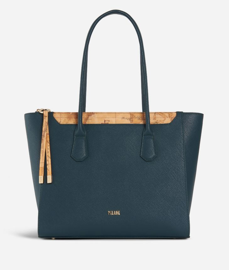 Sky City Shopping Bag Teal,front