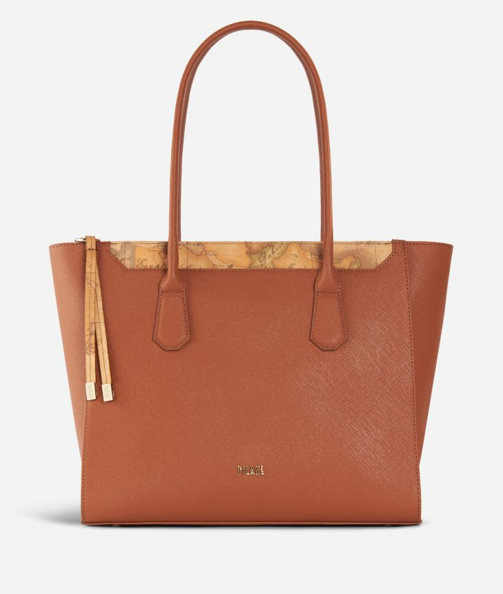 Sky City Shopping Bag Walnut,front
