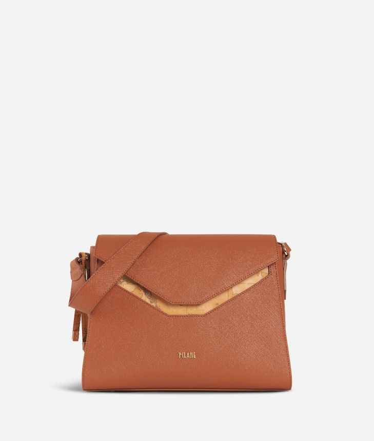 Sky City Hobo Bag Walnut,front