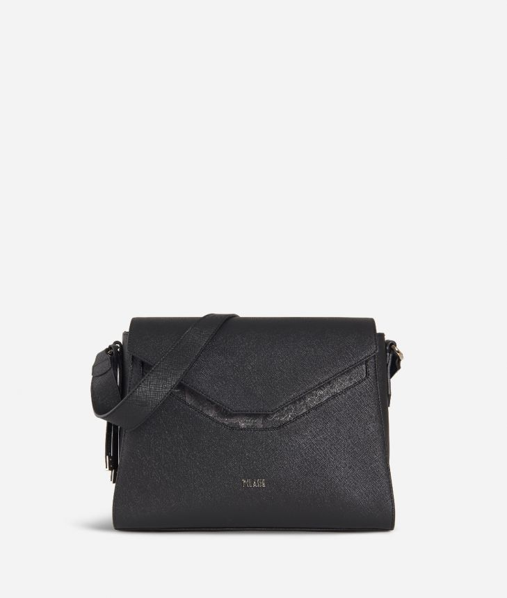 Sky City Hobo bag Black and Geo Night Black,front