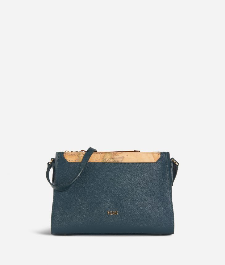 Sky City Crossbody bag Teal,front