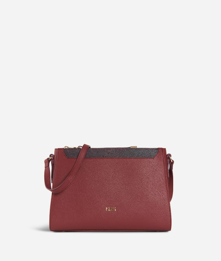Sky City Crossobody bag Geo Bordeaux Cabernet,front