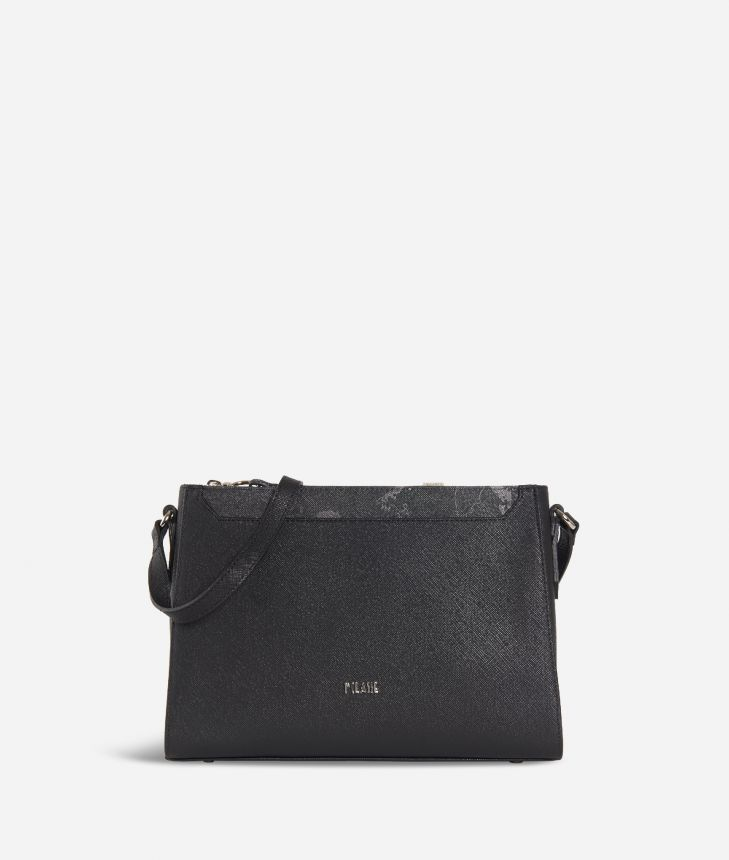Sky City Crossbody bag Black and Geo Night Black,front