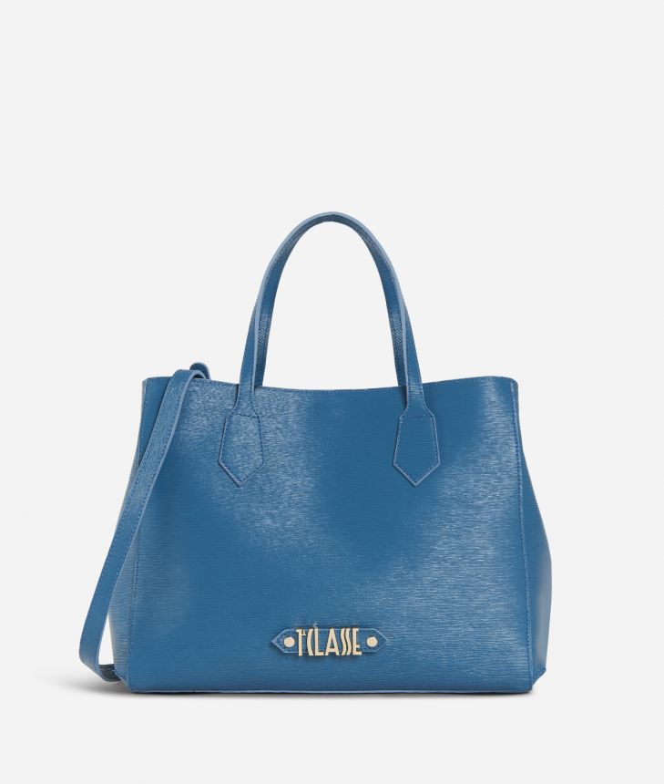 Winter Smile Medium Handbag Blue,front