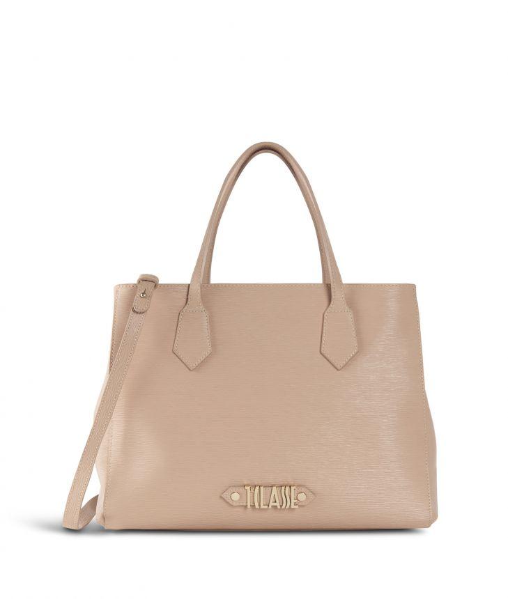 Winter Smile Medium Handbag Cream,front