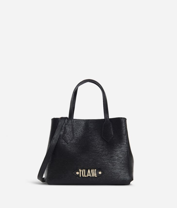 Winter Smile Small Handbag Black,front