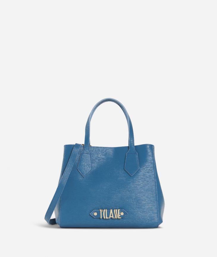 Winter Smile Small Handbag Blue,front
