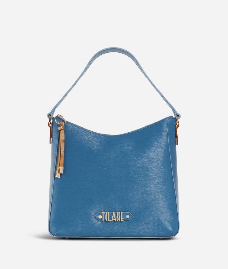 Winter Smile Hobo bag  Blue,front