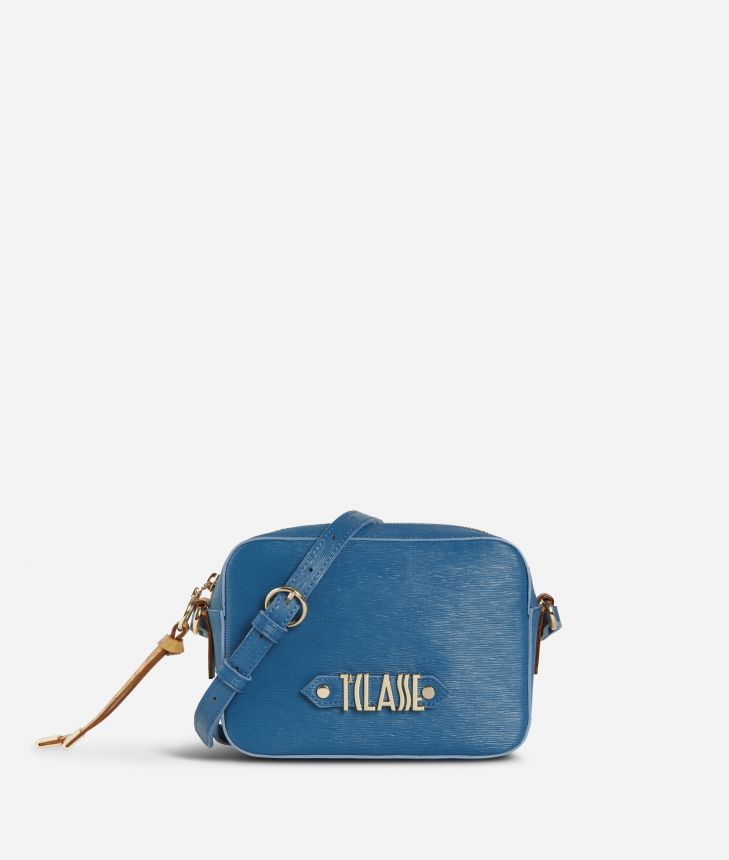 Winter Smile Crossbody bag Blue,front