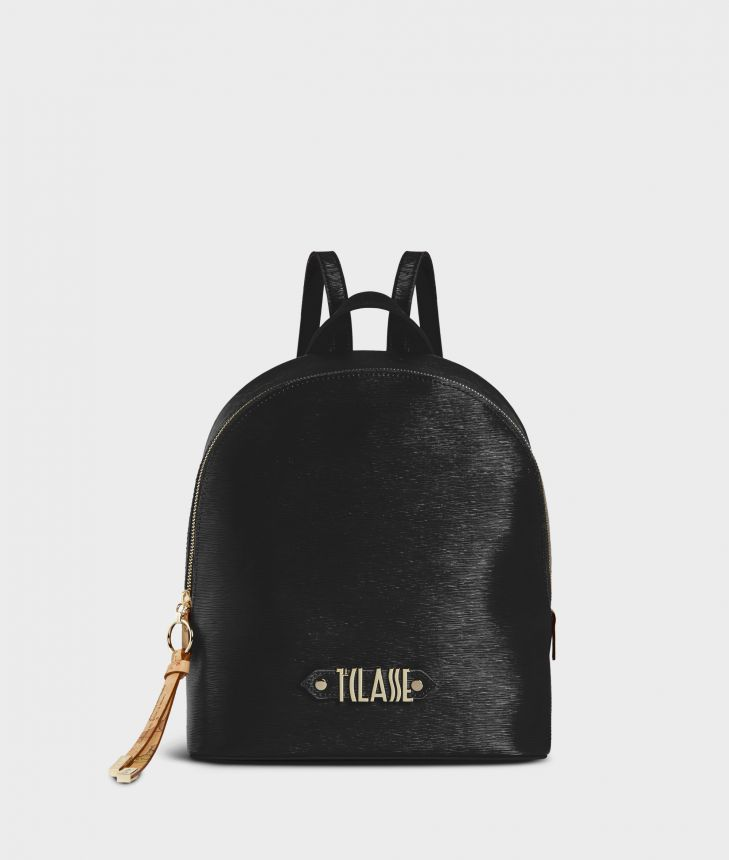 Winter Smile Backpack Black,front