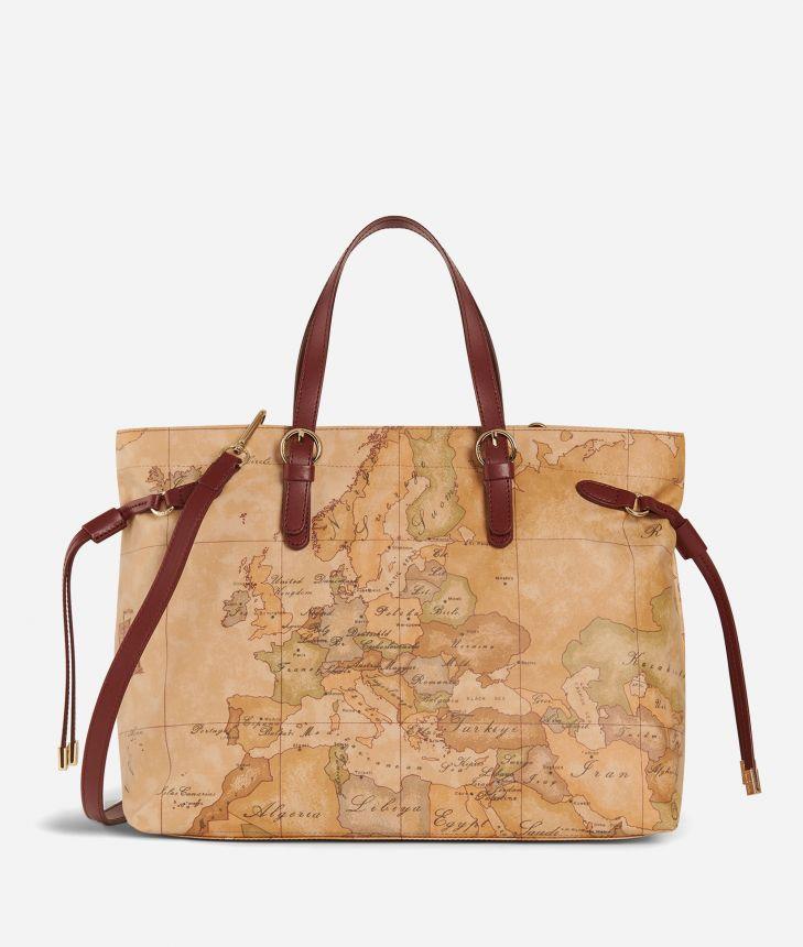 Soft Wood Geo Classic Handbag Cabernet,front
