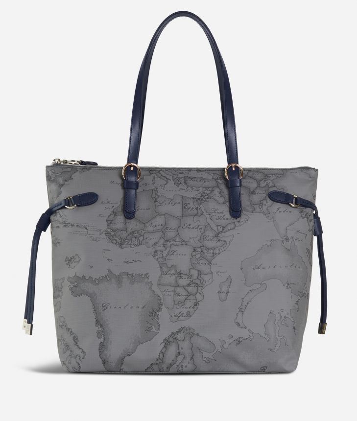 Soft Wood Shopping bag Dark Grey,front