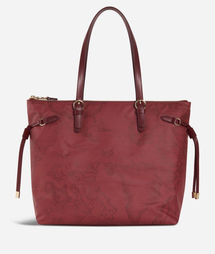 Soft Wood Geo Bordeaux Shopping bag Cabernet,front