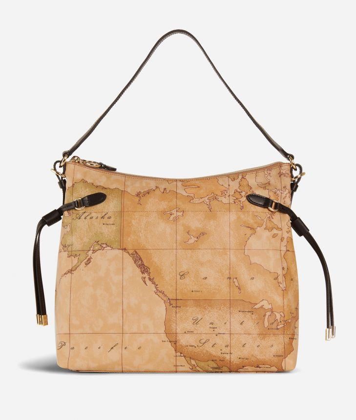 Soft Wood Hobo bag Black,front