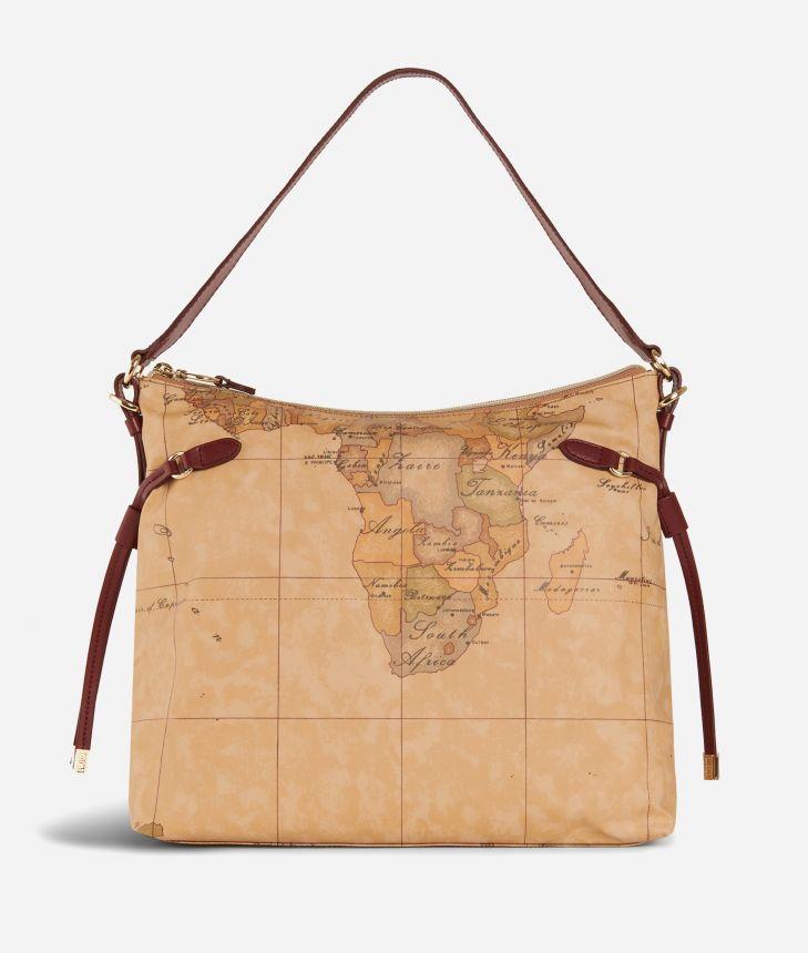 Soft Wood Geo Classic Hobo bag Cabernet,front