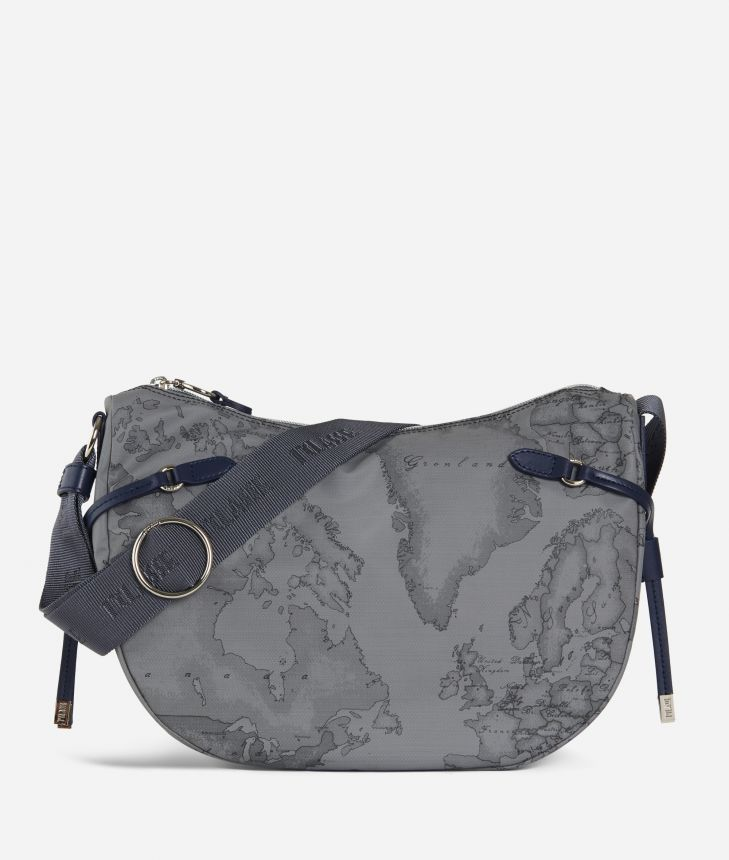 Soft Wood Crossbody bag Dark Grey,front