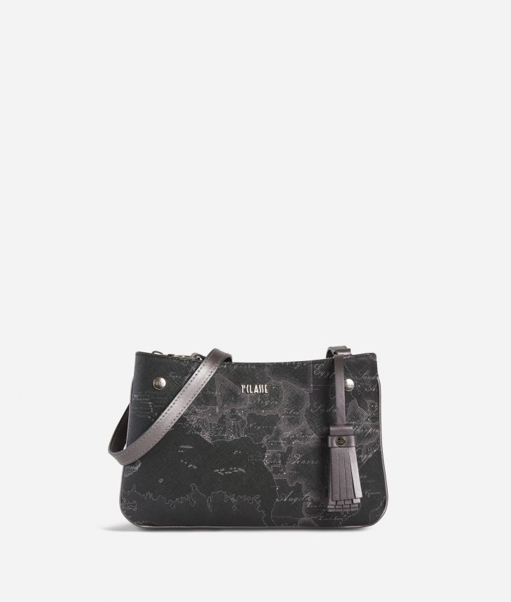 Geo Silver Night Crossbody bag Black,front
