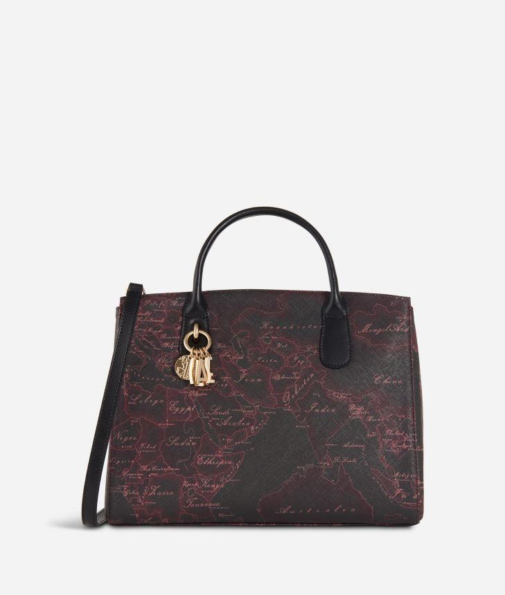 Geo Rosewood Medium Handbag Cabernet,front