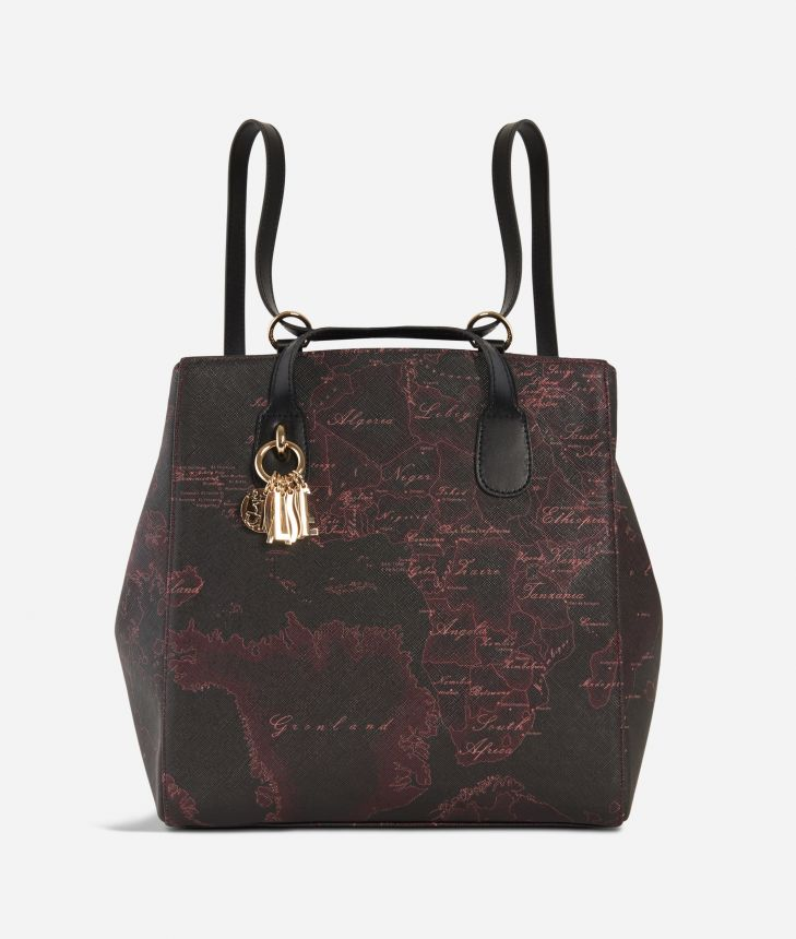 Geo Rosewood Backpack Cabernet,front