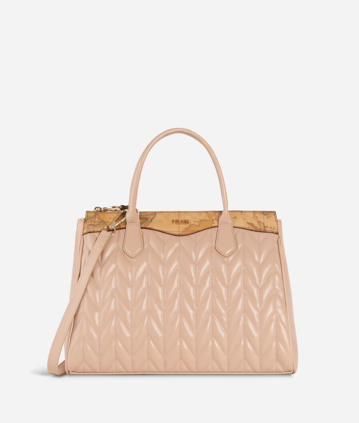 Moonlight Medium Handbag Nude,front