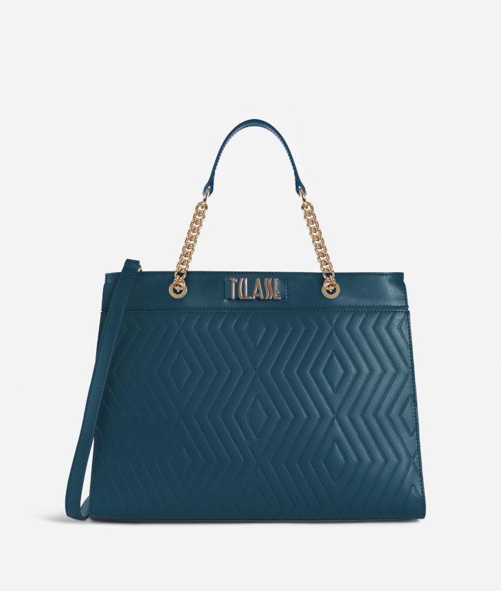 Starlight Line Medium Handbag Teal,front