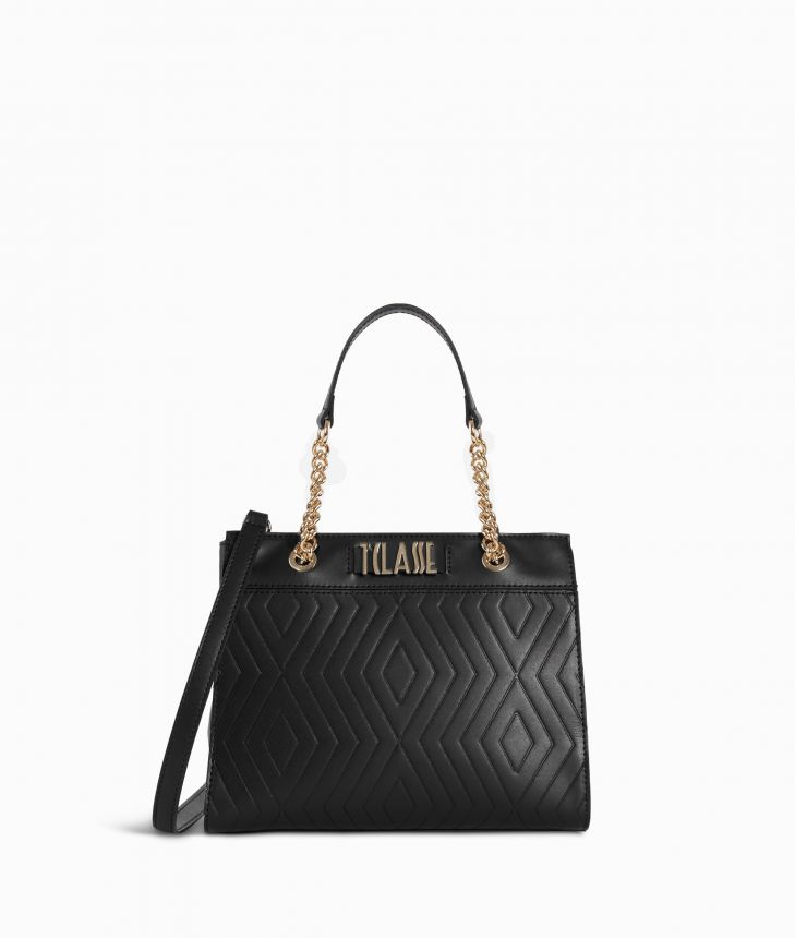 Starlight Line Small Handbag Black,front