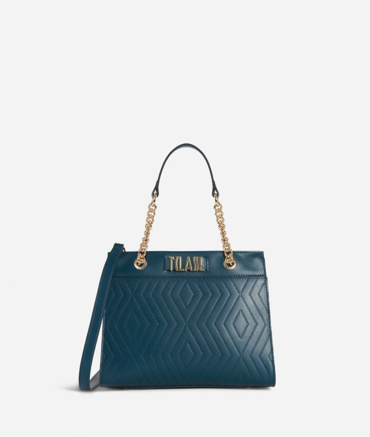 Starlight Line Small Handbag Teal,front