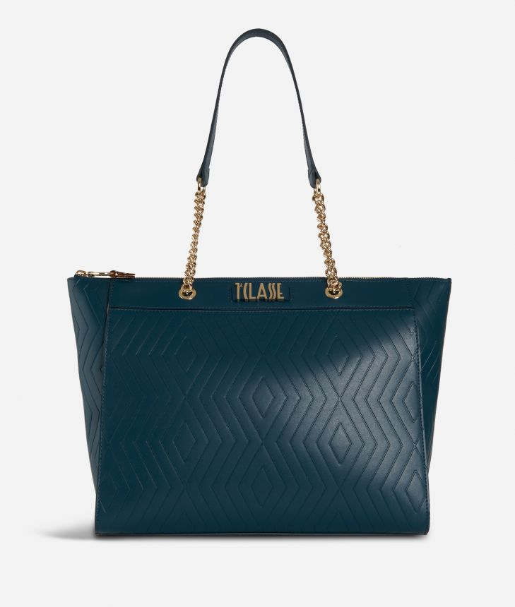 Starlight Line Shopping bag Teal,front