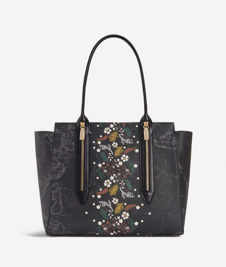 Autumn Night Shopping bag Black,front