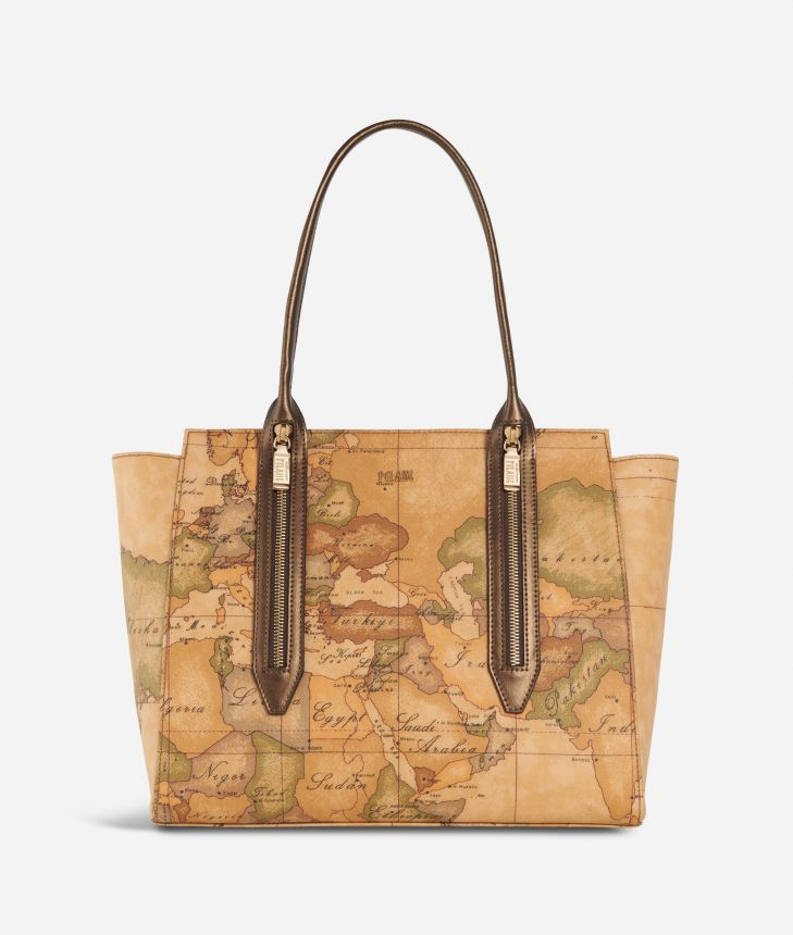 Autumn Geo Shopping bag Bronze,front