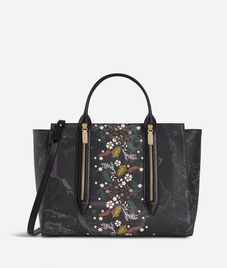 Autumn Night Medium Handbag Black,front
